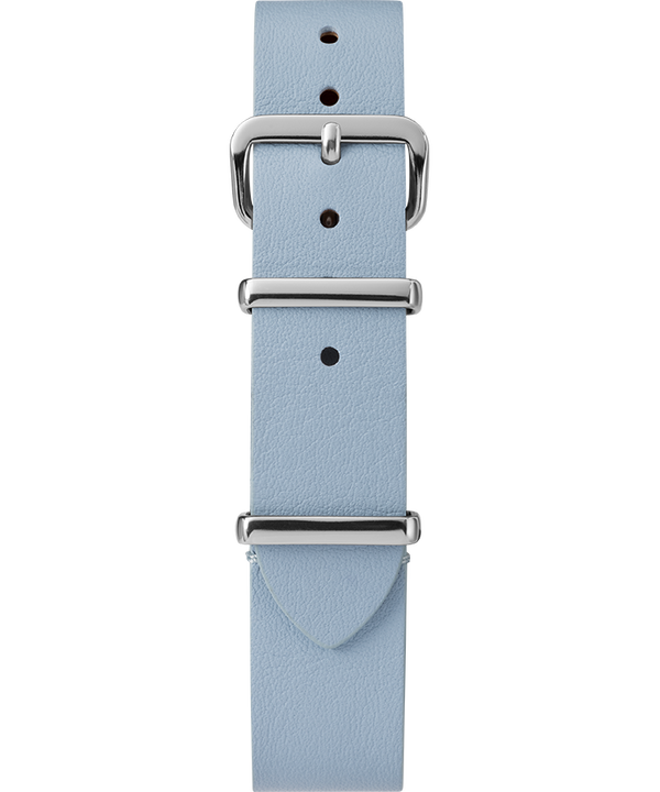 16mm Leather Slip-Thru Single Layer Strap Blue large