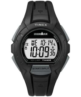 IRONMAN Essential 10 Full-Size 42mm Resin Strap Watch Black/Gray large