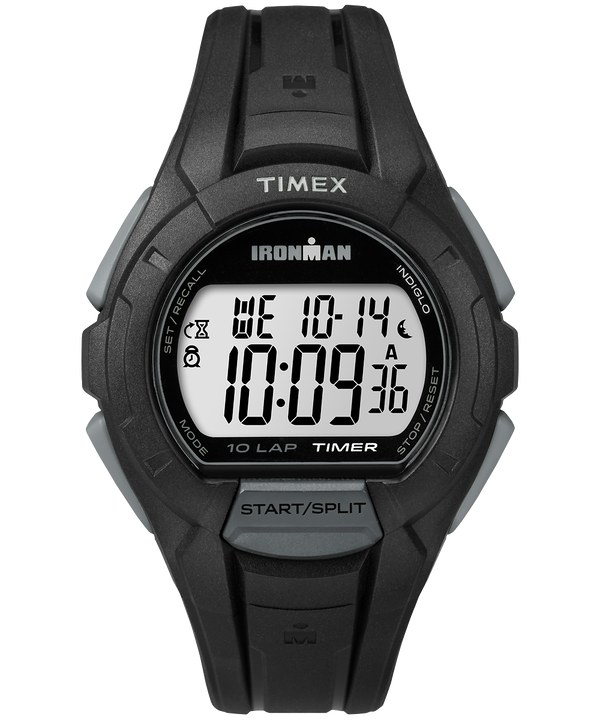 IRONMAN Essential 10 Full-Size Resin Strap Watch Black/Gray large