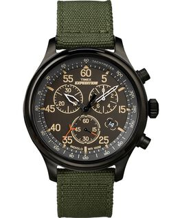 Expedition Field Chronograph 43mm Fabric Watch Black/Green large
