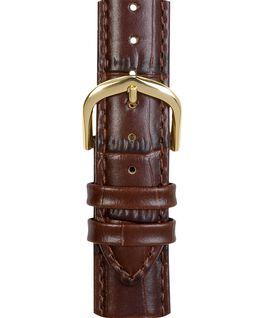 18mm Croco Leather Strap Brown large