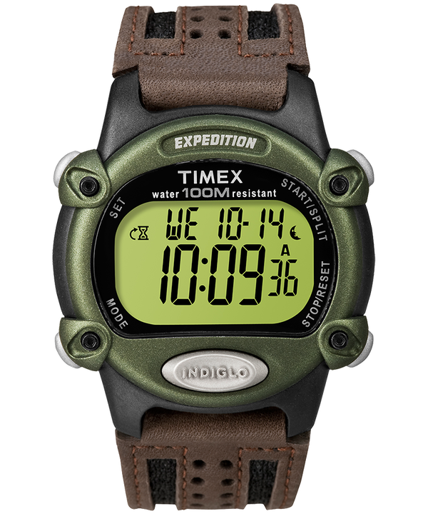 Expedition 39mm Fabric Strap Watch Black/Brown/Green large