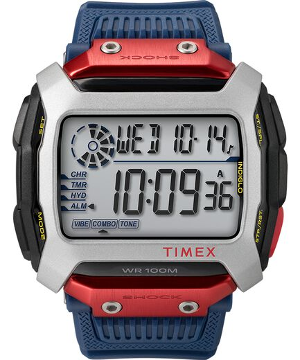 a717e34bde67 Timex Command trade  X Red Bull reg  Cliff Diving 54mm Resin Strap Watch  Black Blue