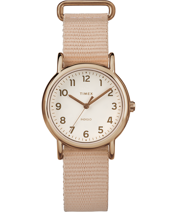 Weekender 31mm Nylon Strap Watch Rose-Gold-Tone/Pink/Cream (large)