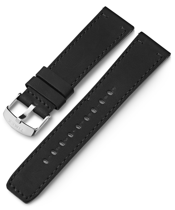 22mm Silver Buckle Quick Release Leather Strap Stainless-Steel large
