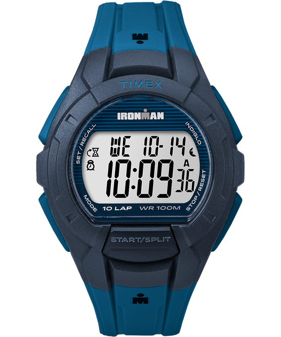 IRONMAN Essential 10 Full-Size 42mm Resin Strap Watch Gray/Blue/Black large