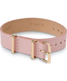 16mm Leather Single Layer Slip Thru Strap with Gold Tone Pink large