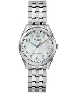Briarwood Mother of Pearl 27mm Stainless Steel Watch Silver-Tone/Mother-of-Pearl large