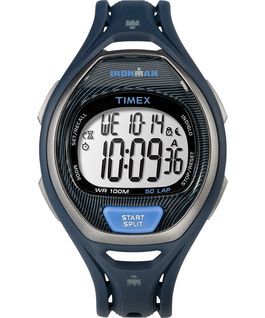 IRONMAN Sleek 50 Full-Size 37mm Resin Strap Watch Blue large