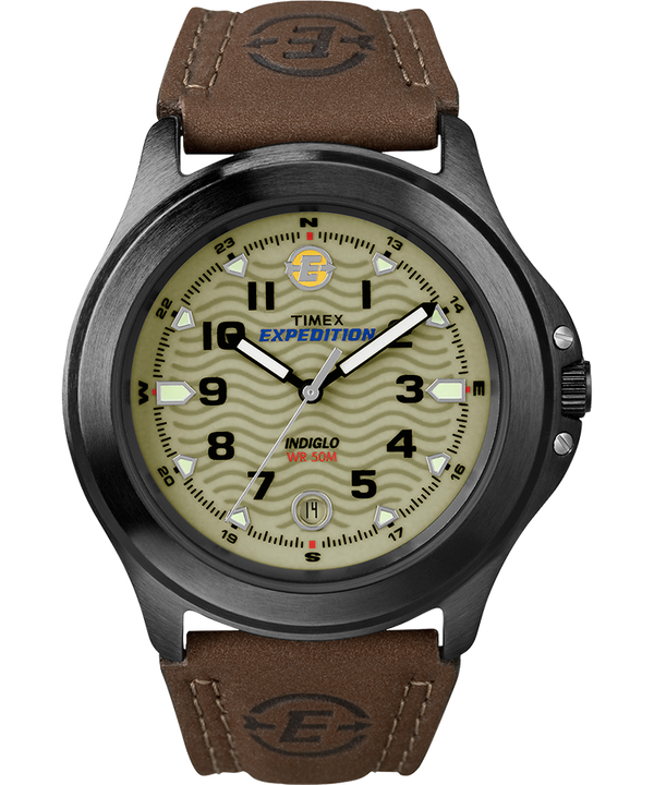 Expedition Metal Field 40mm Leather Strap Watch Gray/Brown/Green large