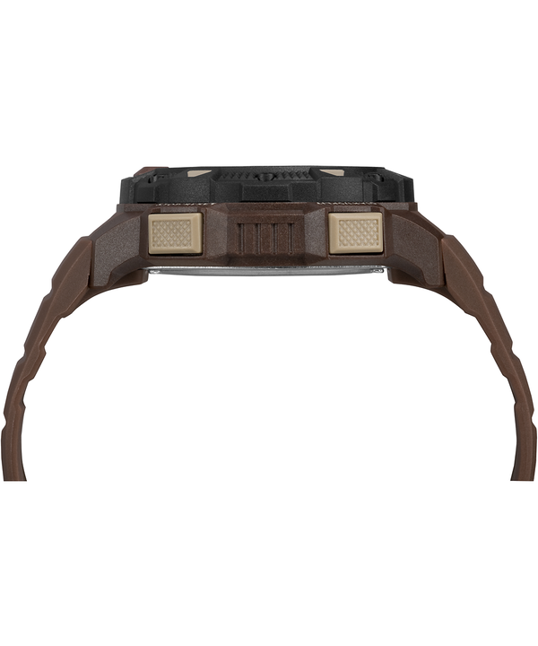 Expedition Base Shock 45mm Resin Strap Watch Brown/Black large
