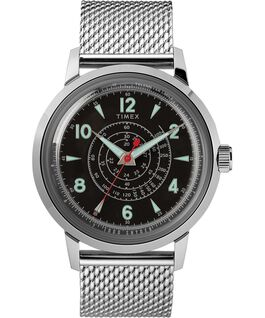 Timex x Todd Snyder Beekman 40mm Stainless Steel Mesh Band Watch Stainless-Steel/Black large