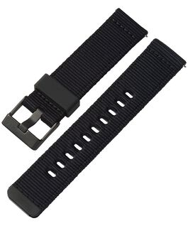 22mm Quick Release Black and Camo Fabric Strap Black large