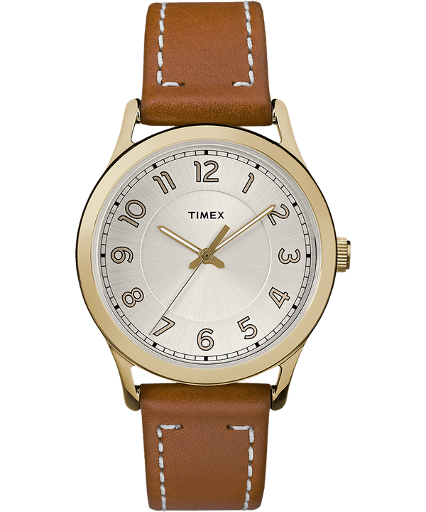 New England 36mm Leather Watch  large