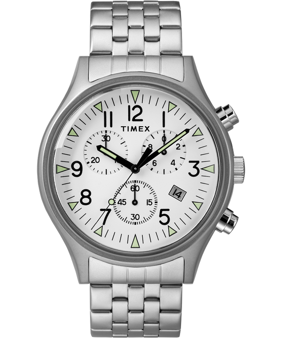 MK1 42mm Stainless Steel Watch Stainless-Steel/White (large)