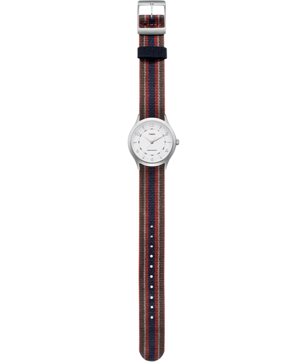 Whitney Village 36mm Reversible Grosgrain Strap Watch  large