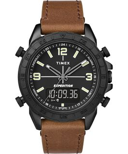 Expedition Pioneer Combo 41mm Quick Release Leather Strap Watch Black/Brown large