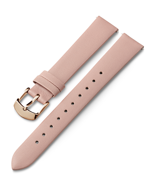 16mm Rose Gold Buckle Leather Strap  large