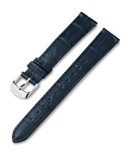 16mm Crocodial Pattern Leather Strap Blue large