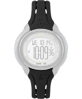 Replacement 15mm Silicone Strap for IRONMAN Sleek 50 Mid-Size Black large