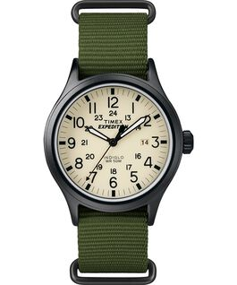 Expedition Scout 40mm Nylon Slip-Thru Strap Watch Black/Green/Natural large
