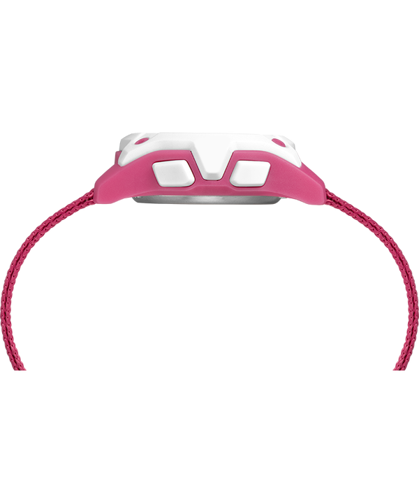 Kid's Digital 35mm Double Layer Fabric Strap Watch Pink/White large
