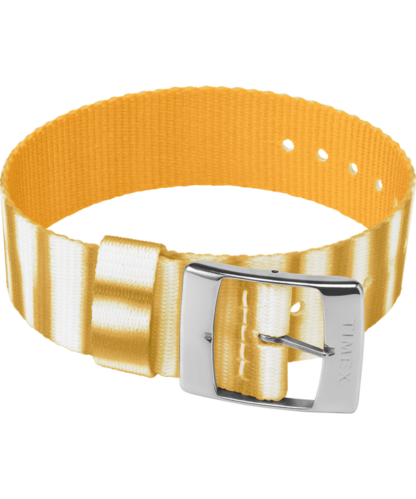 20mm Fabric Slip-Thru Single Layer Strap Yellow large