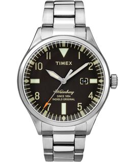 Waterbury Traditional 3 Hand 40mm Stainless Steel Watch Stainless-Steel/Black large