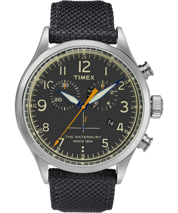 Waterbury Traditional Chronograph 42mm Fabric Strap Watch  large