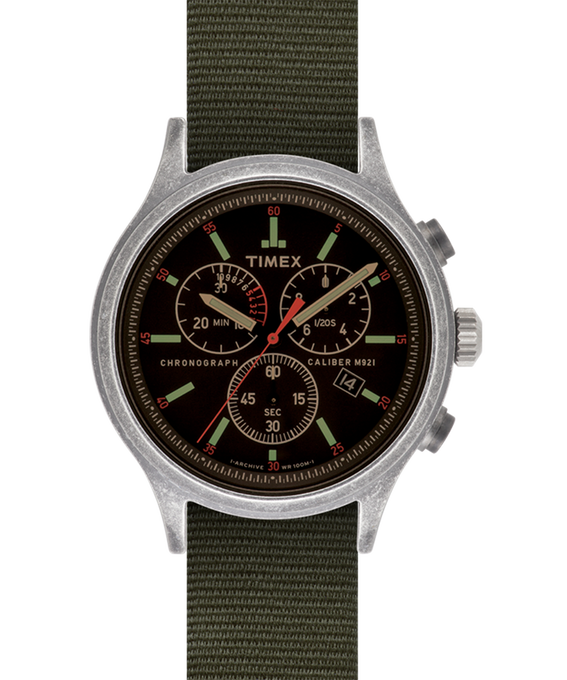 Scout Chronograph 42mm Reversible Fabric Strap Watch
