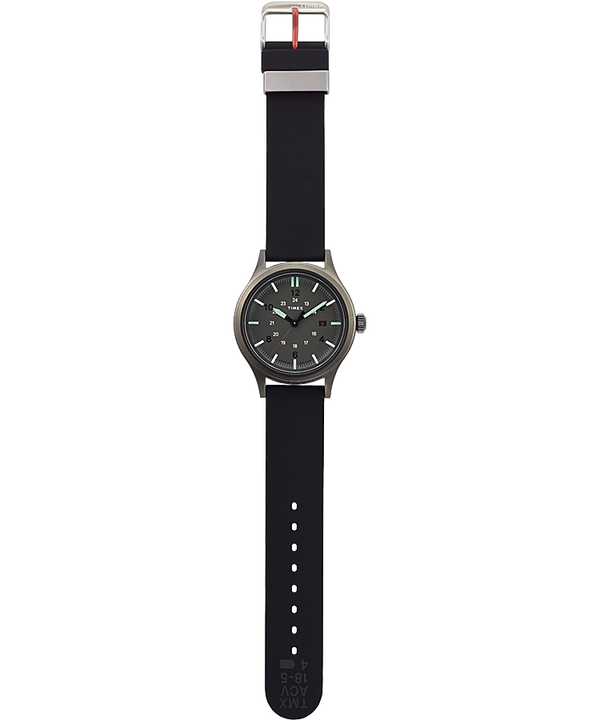 Allied 40mm Silicone Strap Watch Gunmetal/Black/Green large