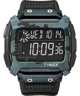 Command Shock 54mm Resin Strap Watch Black large