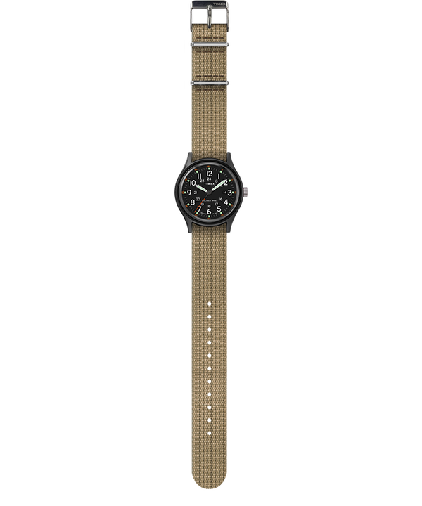 MK1 40mm Fabric Strap Watch Black/Olive large