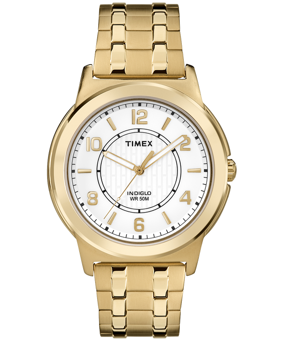 Bank Street 40mm Stainless Steel Watch Gold-Tone/White large