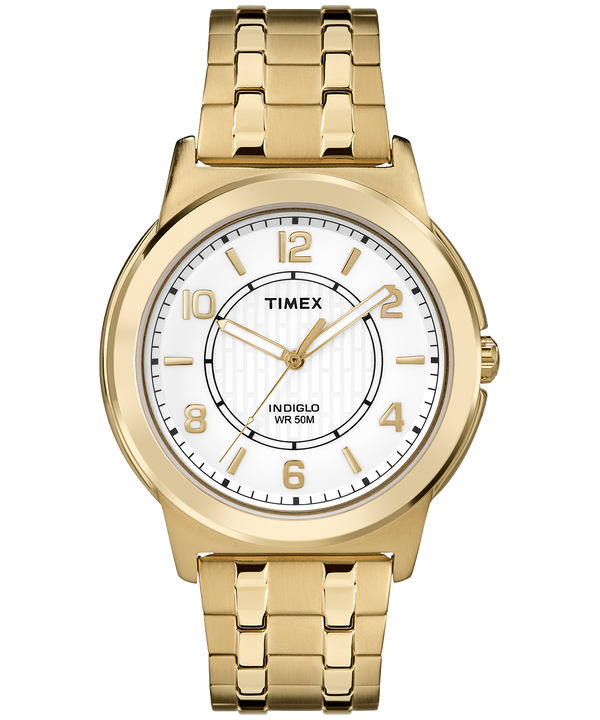 Bank Street 40mm Expansion Band Watch Gold-Tone/White large