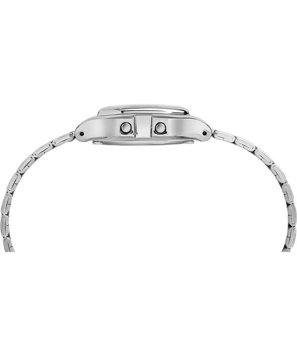 Digital Mini 27mm Bracelet Watch Silver-Tone/Black large