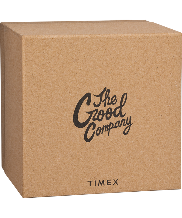 The Good Company for Timex MK1 36mm Fabric Strap Watch with Extra Strap Black/White large