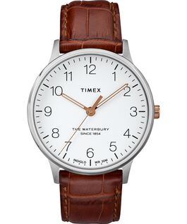 Waterbury-40mm-Classic-Leather-Croco-Strap-Watch Stainless-Steel/Brown/White large