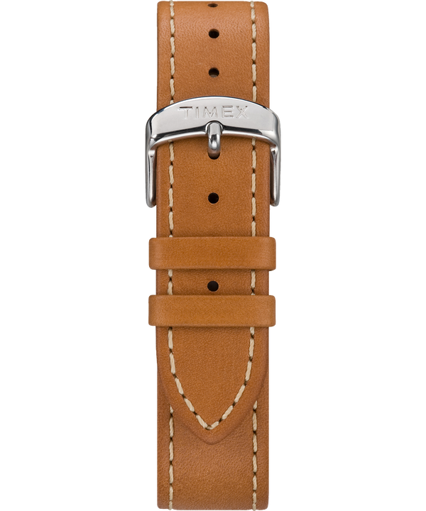 Tan Two-Piece Stitched Leather Strap Tan large
