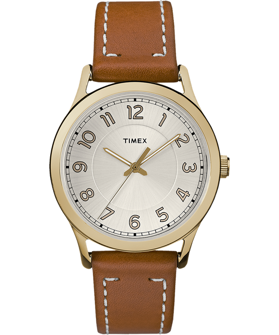 New England 36mm Leather Watch