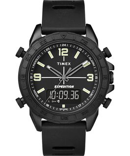 Expedition Pioneer Combo 41mm Quick Release Silicone Strap Watch Black large