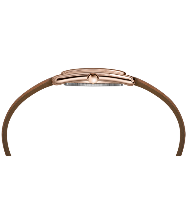 Addison 25mm Double Wrap Leather Strap Watch Rose-Gold-Tone/Tan/Silver-Tone large