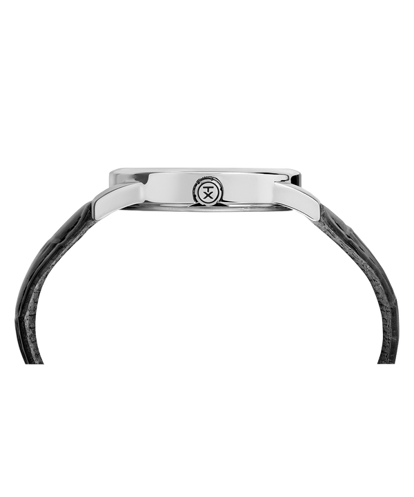 Easy Reader Signature 38mm Leather Strap Watch Chrome/Black/White large