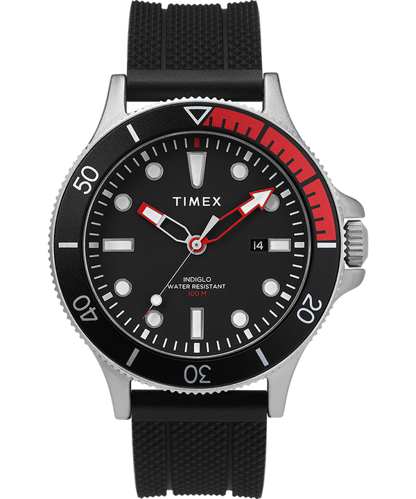 Allied Coastline 43mm with Rotating Bezel Silicone Strap Watch  large