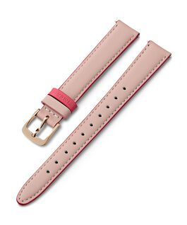 14mm Leather Strap with Colored Keeper Pink large