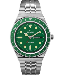 Q Timex Reissue 38mm Stainless Steel Bracelet Watch Stainless-Steel/Green large