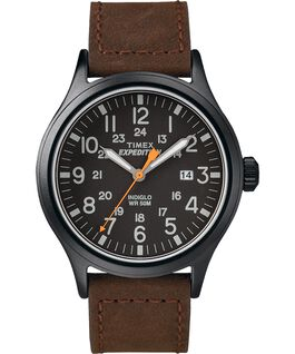 Expedition Scout 40mm Leather Watch Black/Brown large