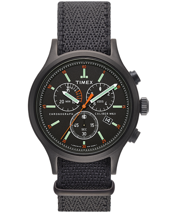 Archive Allied Chronograph 42mm Fabric Strap Watch  large