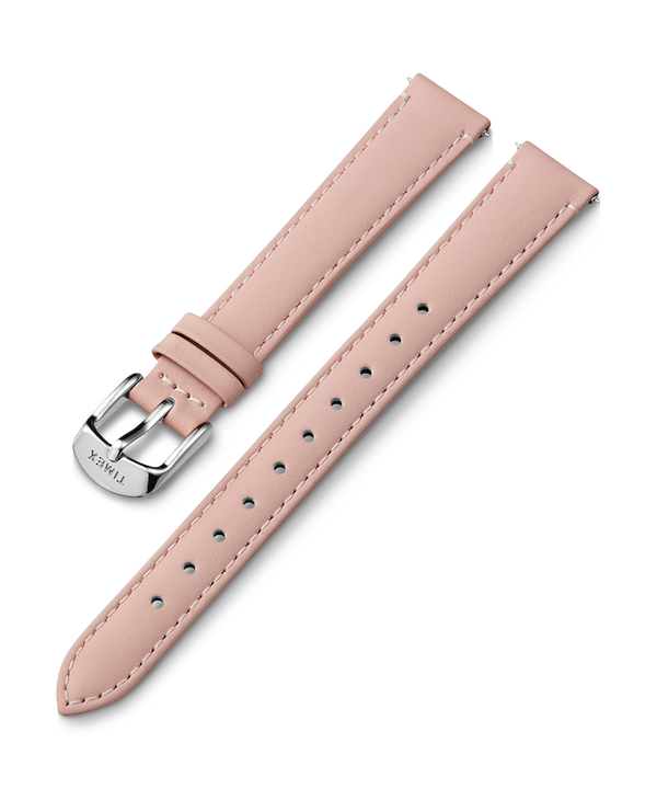14mm Silver Buckle Leather Strap  large