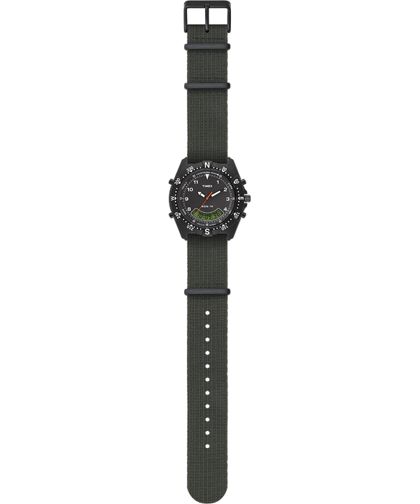 NSN-1K 39mm Elastic Strap Watch Black/Green large
